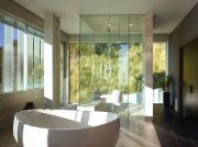 Rising Glen Residence, bathroom, Hollywood Hills, CA - MAKE Architecture