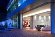 Rising Glen Residence, living room, Hollywood Hills, CA - MAKE Architecture