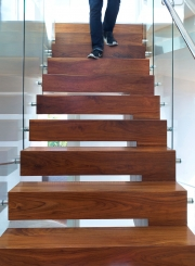 Stradella Residence, stairs, Bel Air, CA - MAKE Architecture