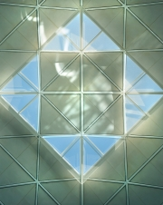 Stansted Airport, ceiling detail, London, England - Foster + Partners